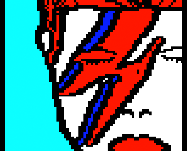 (David Bowie portrait)
