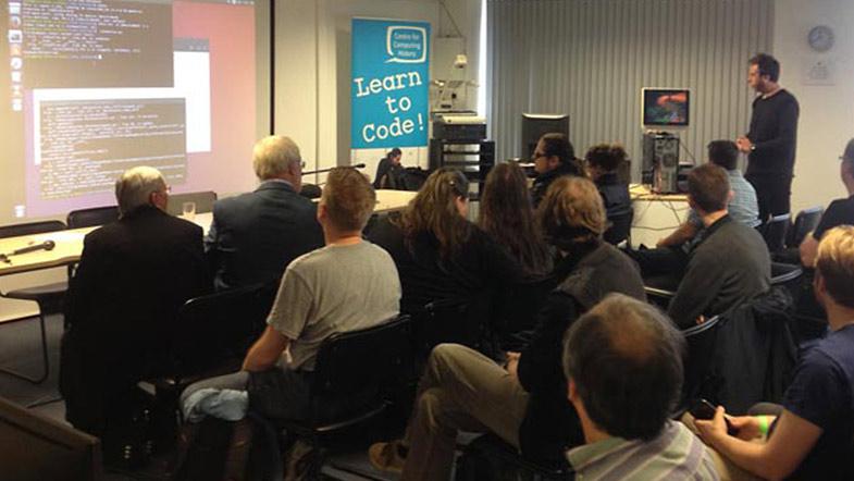 Jason Robertson demonstrates teletext recovery at Teletext Fest 2016